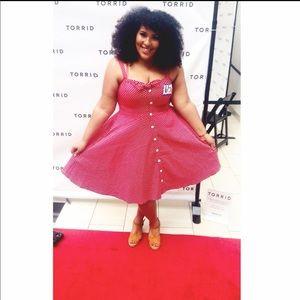 City Chic- vintage pinup red polka dot dress